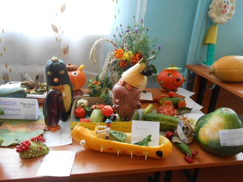 Осенние поделки выставка в школе